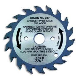 "Crain 787 3-3/8"" Carbide Tipped Saw Blade"