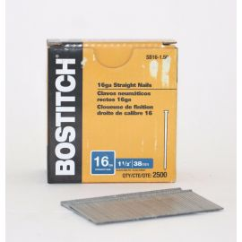 BOSTITCH SB16 16 Gauge Straight Finish Nails - 1-1/2