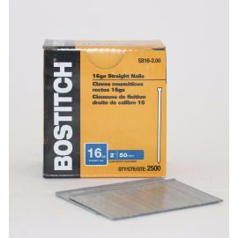 BOSTITCH SB16 16 Gauge Straight Finish Nails - 2