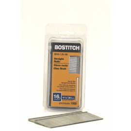 BOSTITCH SB16 16 Gauge Straight Finish Nails - 1-1/4