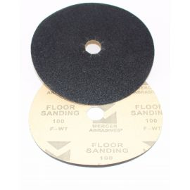 "Mercer Abrasives 7"" x 7/8"" Hole Edger Sanding Disc - Grit 100"