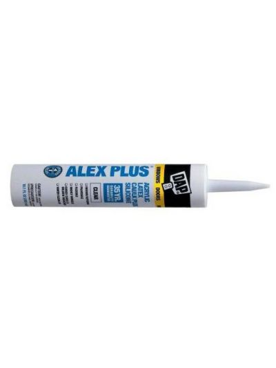 Dap White Acrylic Caulk W/Silicone Cart Alex Plus #1014.