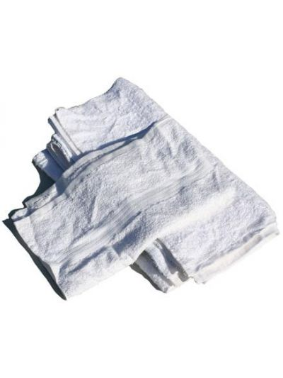 White Flannel Blanket Rags 5 LBS