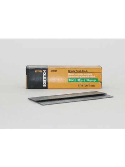 BOSTITCH BT13 18 Gauge Straight Finish Brad Nails - 1-3/16
