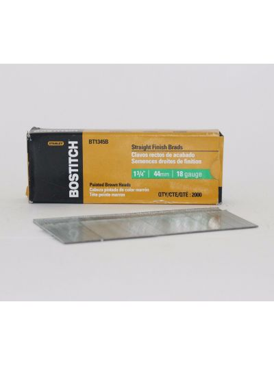 BOSTITCH BT13 18 Gauge Straight Finish Brad Nails - 1-3/4