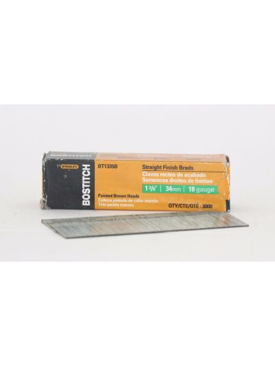 BOSTITCH BT13 18 Gauge Straight Finish Brad Nails - 1-3/8