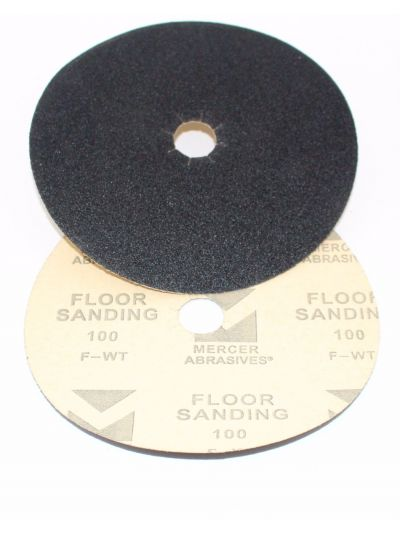 "Mercer Abrasives 7"" x 7/8"" Hole Edger Sanding Disc - Grit 40"