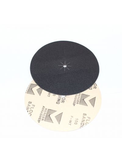 "Mercer Abrasives 7"" x 5/16"" Hole Edger Sanding Disc - Grit 100"