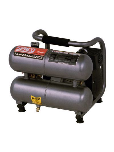Senco Compressor PC0968 1.5HP Trim Twin Tank 2.5 gallons